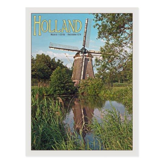 Amsterdam - De 1100 Roe Windmill.jpg Postcard