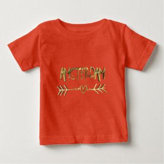 Amsterdam Dutch Love Gold Look Typography Elegant Baby T-Shirt