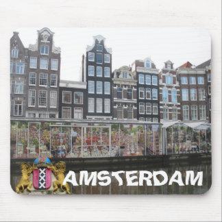 Amsterdam Flower Market Bloemenmarkt Mousepad