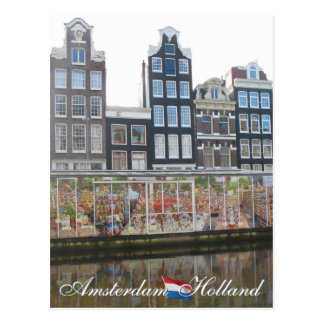 Amsterdam Flower Market Holland Postcard