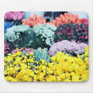 Amsterdam Flower Market Mouse Pads