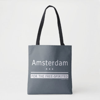 """""""Amsterdam - for the free-spirited"""" Tote Bag"""