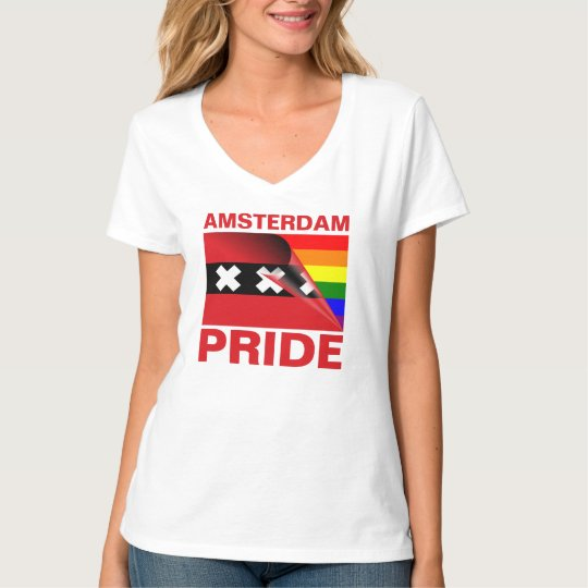 Amsterdam Gay Pride Rainbow Flag T-Shirt