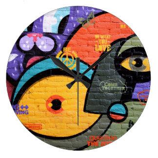 Amsterdam Graffiti Large Clock