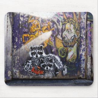 Amsterdam Graffiti Street Art Nr. 1 - Raccoon Mousepads