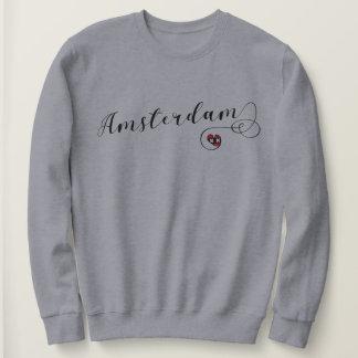 Amsterdam Heart Sweatshirt, Netherlands Sweatshirt