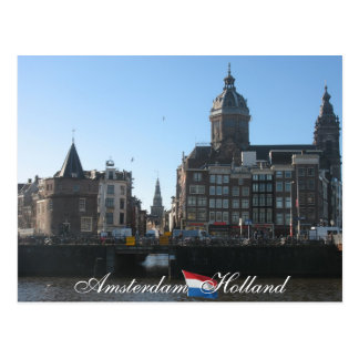 Amsterdam Holland Postcard