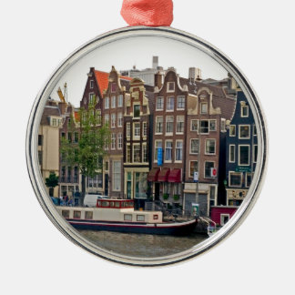 Amsterdam, houses on the canal christmas ornament