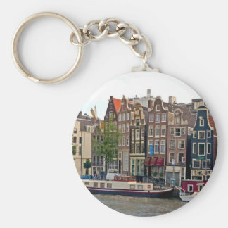 Amsterdam, houses on the canal key ring