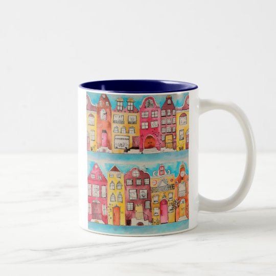 Amsterdam in love mosquito Two-Tone coffee mug
