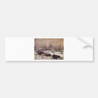 Amsterdam in the Snow by Claude Monet Bumper Sticker