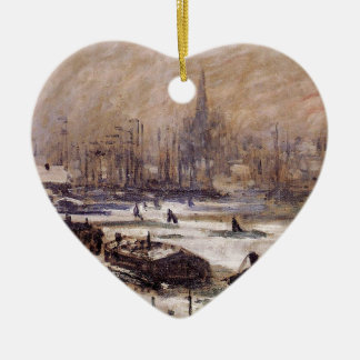 Amsterdam in the Snow by Claude Monet Christmas Ornament
