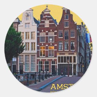 Amsterdam-Keizersgracht Centrum Round Sticker