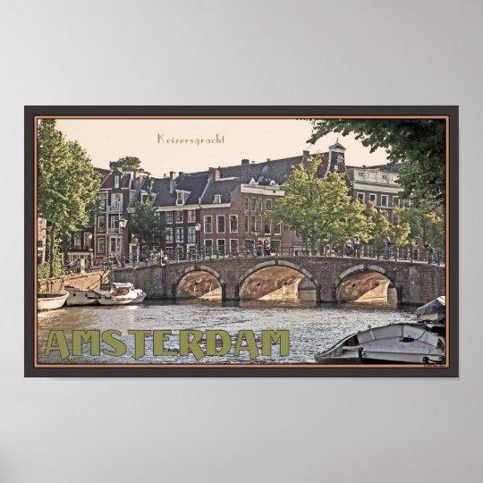 Amsterdam - Keizersgracht Poster