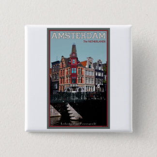 Amsterdam - Leidsestraat - Keizersgracht 15 Cm Square Badge