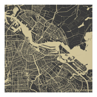 Amsterdam map poster