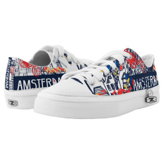 Amsterdam modern shoes printed shoes