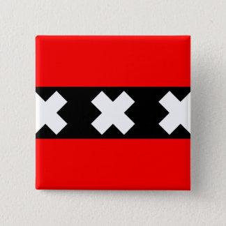 Amsterdam, Netherlands 15 Cm Square Badge