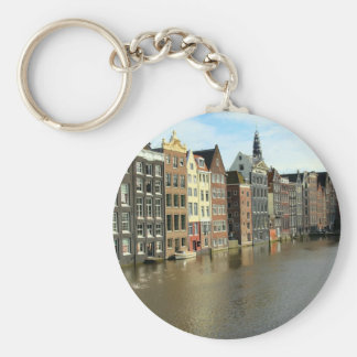 Amsterdam, Netherlands Basic Round Button Key Ring