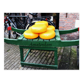 Amsterdam, Netherlands, Cheese, Shop, Postcard