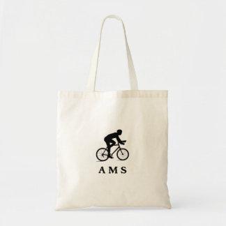 Amsterdam Netherlands Cycling AMS Tote Bag