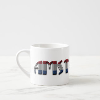Amsterdam Netherlands Dutch Flag Colors Typography Espresso Cup