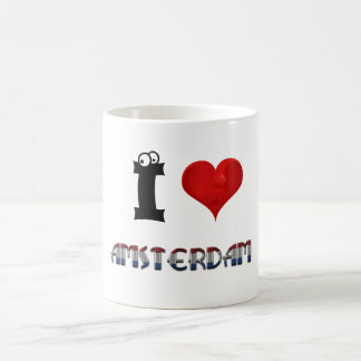Amsterdam Netherlands Heart Dutch Flag Typography Coffee Mug