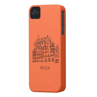Amsterdam Netherlands Holland City Souvenir Orange Case-Mate iPhone 4 Case