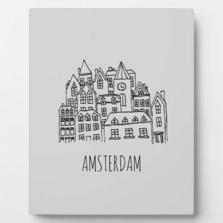 Amsterdam Netherlands Holland City Souvenir Orange Plaque