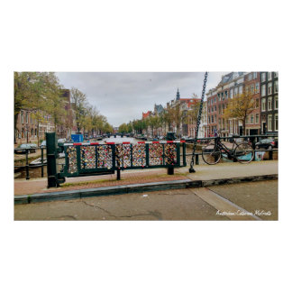 Amsterdam, Netherlands Love Lock Bridge Poster