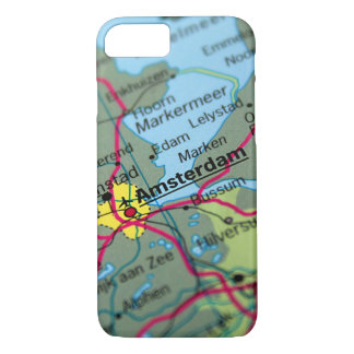 Amsterdam, Netherlands Map iPhone 7 Case