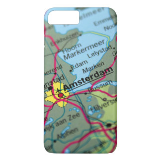 Amsterdam, Netherlands Map iPhone 7 Plus Case