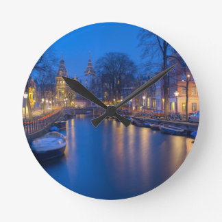 Amsterdam, Netherlands Photography Wall Clock
