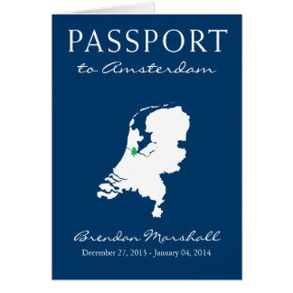 Amsterdam Netherlands Winter Holiday Passport Note Card