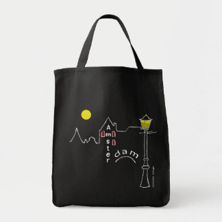 Amsterdam - night in the city tote bag