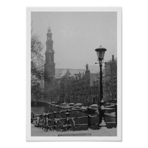 Amsterdam poster canal Prinsengracht