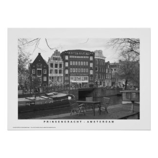 Amsterdam - Prinsengracht canal houses Poster