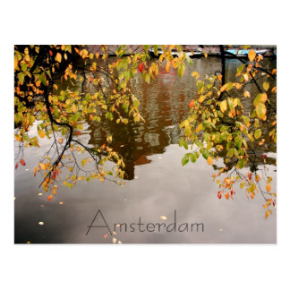 Amsterdam reflection postcard