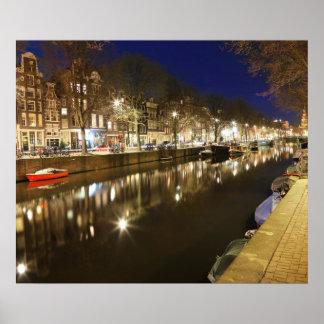Amsterdam River Poster