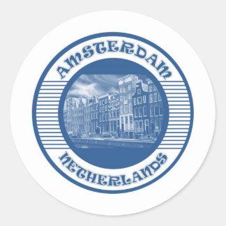 AMSTERDAM ROUND STICKER