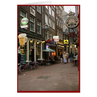 Amsterdam s Beer Alley Greeting Cards
