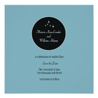 Amsterdam Save the Date Powder Blue Personalized Invitation