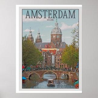 Amsterdam - Sint Nicolaaskerk Poster