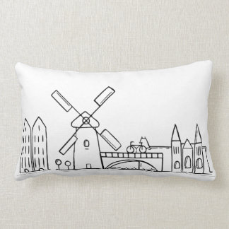 Amsterdam Skyline Pillow