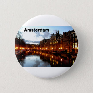 Amsterdam (St.K) 6 Cm Round Badge