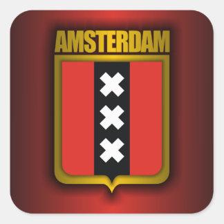 Amsterdam Steel (Flag) Square Sticker