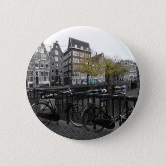 Amsterdam street 6 cm round badge