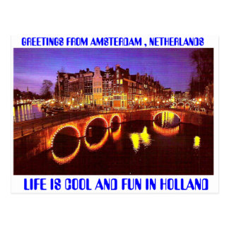 AMSTERDAM THE HOTTEST PLACE TO BE POSTCARD