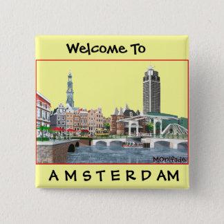 AMSTERDAM , THE NETHERLANDS  - Customized 15 Cm Square Badge