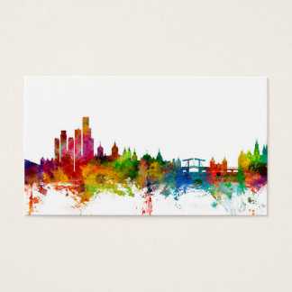 Amsterdam The Netherlands Skyline Business Card